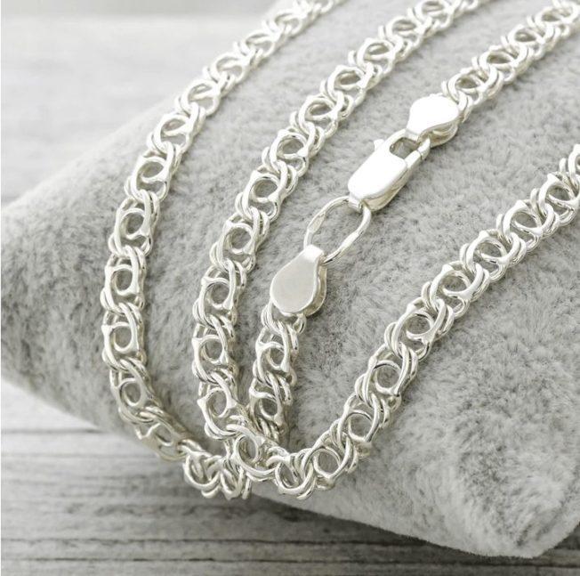 Плетение Бисмарк, золотые цепи и браслеты