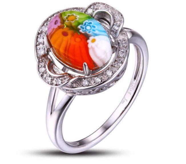 Кольца с муранским стеклом: волшебная фантасмагория