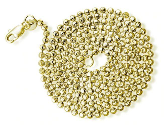 Цепи плетения «Перлина» - имитация жемчужной нити