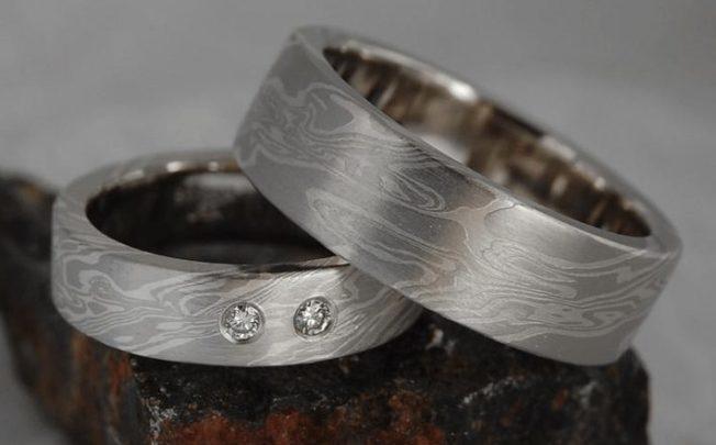 Кольца в технике мокуме гане: слоеные ювелирные изделия
