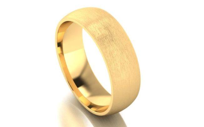 Обручальные кольца с сатинированием