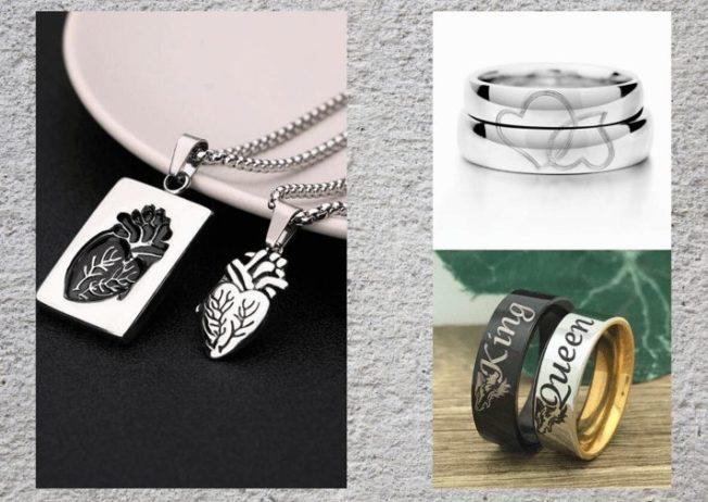 Подарки на 14 февраля: парные украшения