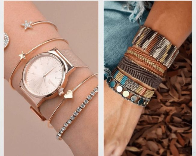 Как носить несколько браслетов одновременно