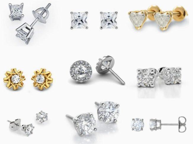 Бриллиантовые пусеты: серьги, которые должны быть у каждой