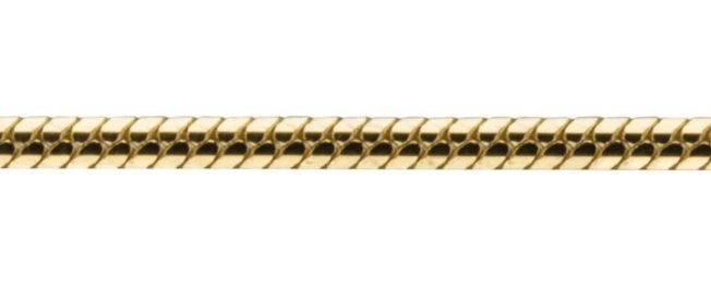 золотая цепь плетение снейк