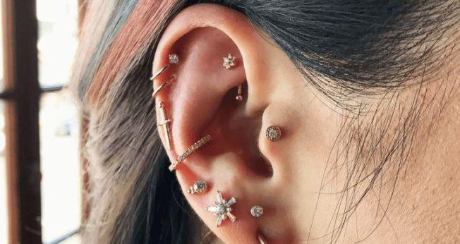 12 видов пирсинга ушей