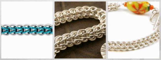 Персидская цепь, персидское плетение цепи браслеты