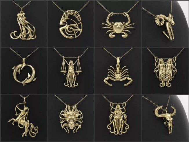 Подвески знаки Зодиака: ваш счастливый талисман