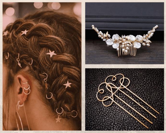 Ювелирные изделия для волос: виды
