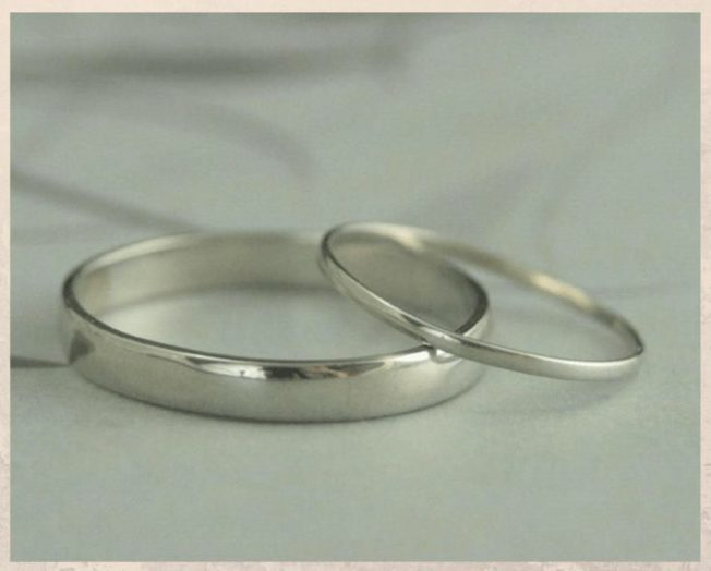 Гипоаллергенные платиновые обручальные кольца