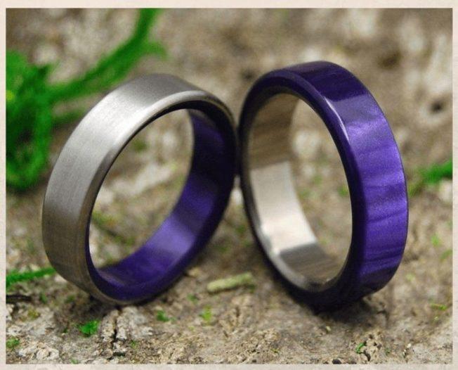Гипоаллергенные титановые обручальные кольца