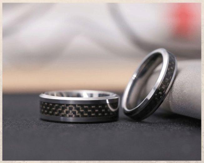 Гипоаллергенные вольфрамовые обручальные кольца