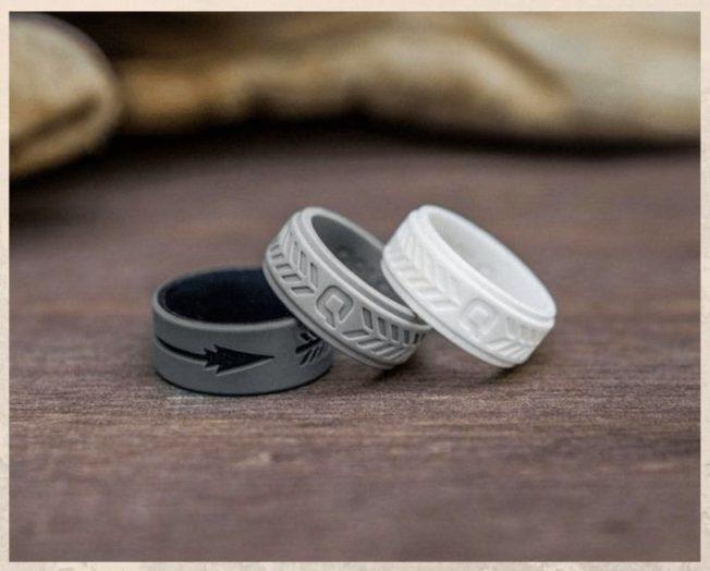 Гипоаллергенные силиконовые обручальные кольца