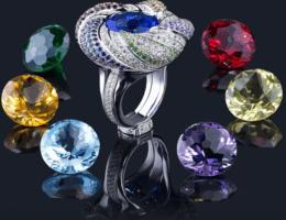 Какие камни бывают в кольцах: их названия по цветам