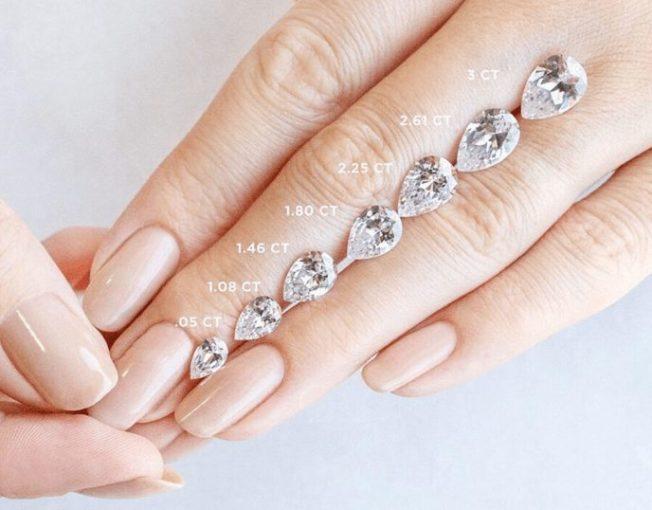 Как определить каратность бриллианта, если нет весов
