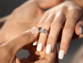 На каком пальце носят помолвочное кольцо до и после свадьбы