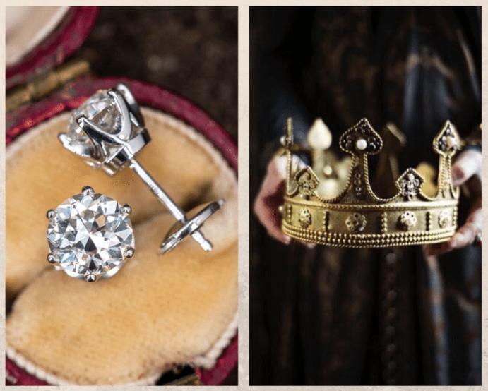 Пусеты в форме короны — маленький символ власти