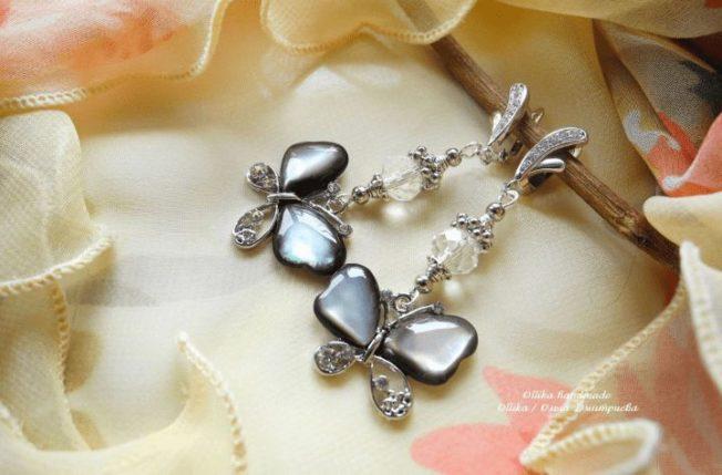 Серьги с бабочками — романтичные и яркие