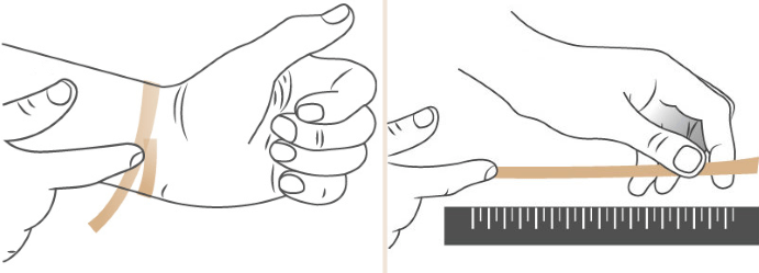 Методика определения размера браслета
