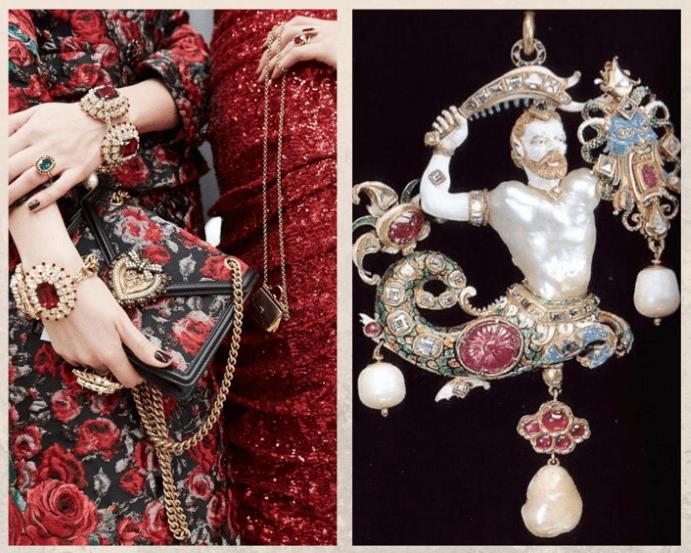 Украшения в стиле барокко: порочная красота, особенности стиля