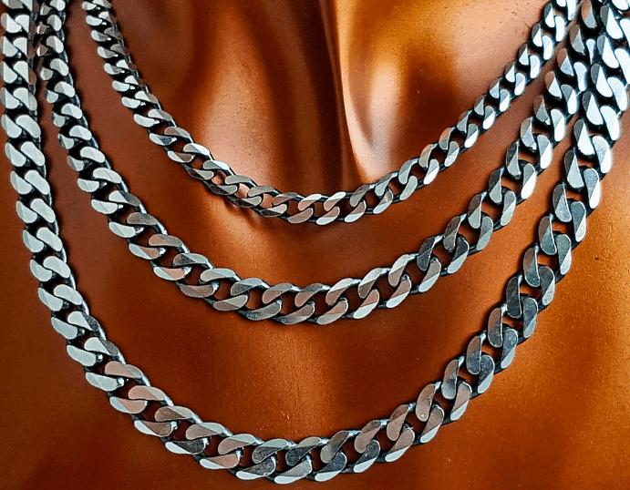 Панцирное плетение серебряных цепочек одно из самых прочных