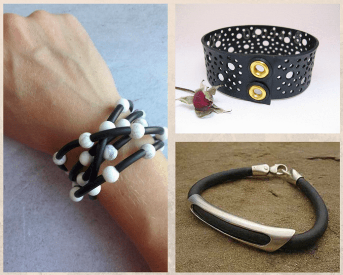 Каучуковый браслет: недорогой и стильный, особенности ухода
