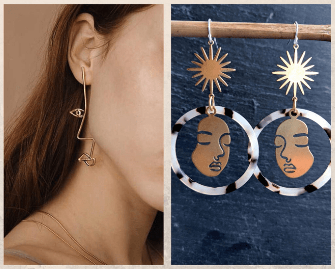 Серьги «Лица Пикассо»: наследие великого художника, как носить