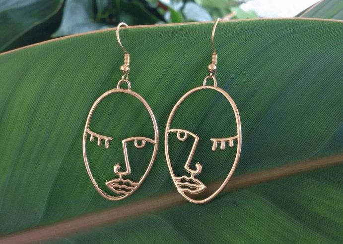 Золотые серьги «Лица Пикассо»: наследие великого художника