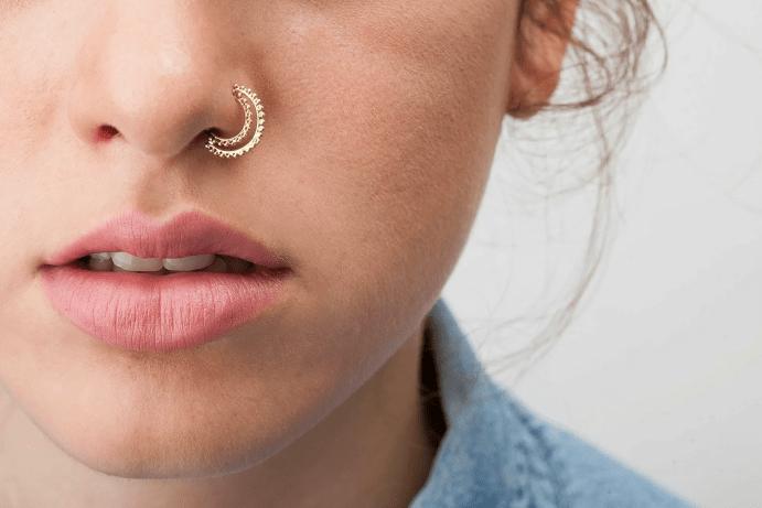Пирсинг в нос: основные разновидности