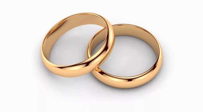классические золотые обручальные кольца