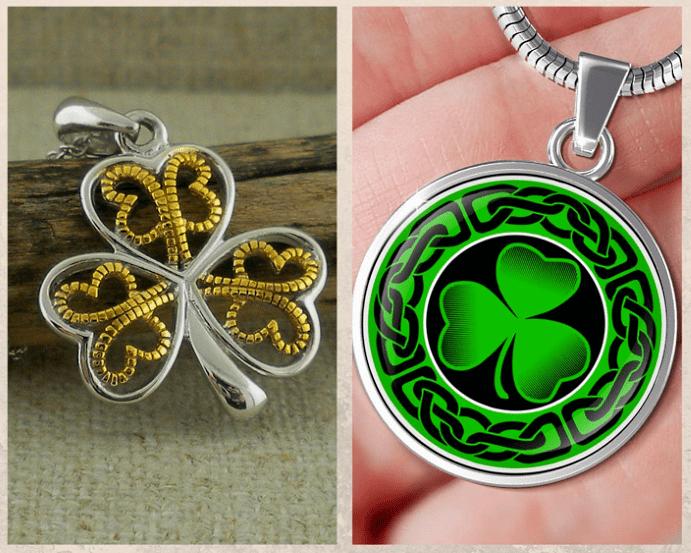 Подвеска Трилистник — символ Ирландии. Как носить подвеску.