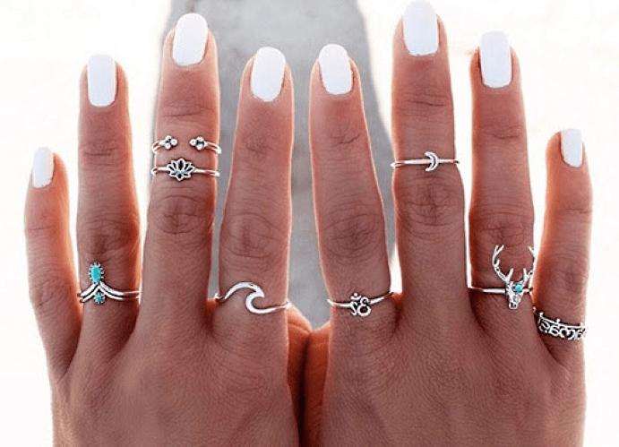 Стильные кольца на верхнюю фалангу
