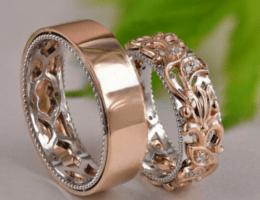 Обручальные кольца из желтого или красного золота: что лучше?