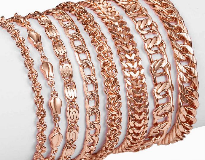 Разновидности популярных и прочных плетений женских золотых браслетов