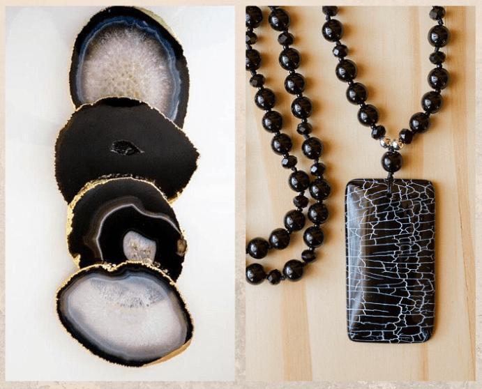 10 удивительных черных камней. Агат