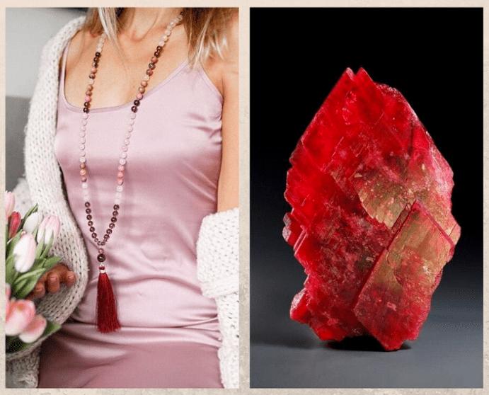 10 самых популярных красных камней. Родонит