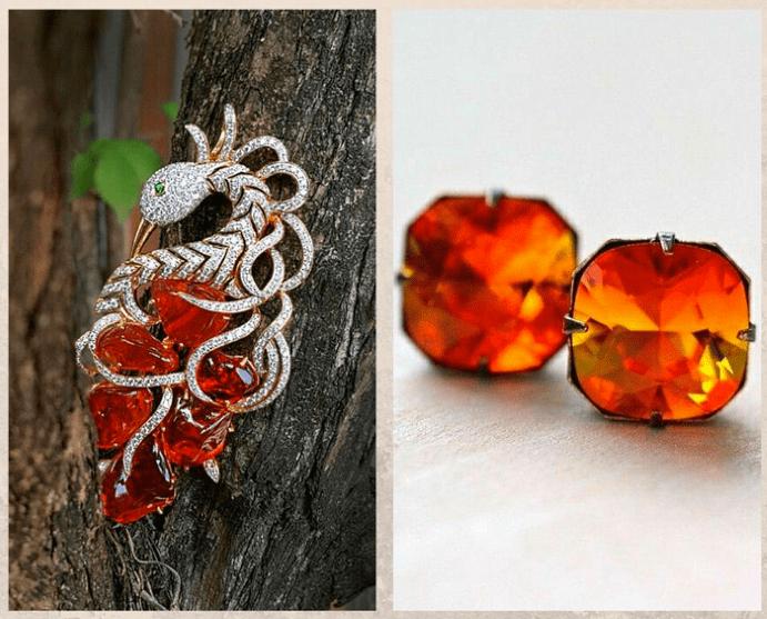 10 самых популярных красных камней. Огненный опал