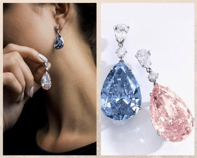 5 самых дорогих женских серег. Apollo Blue и Pink Artemis