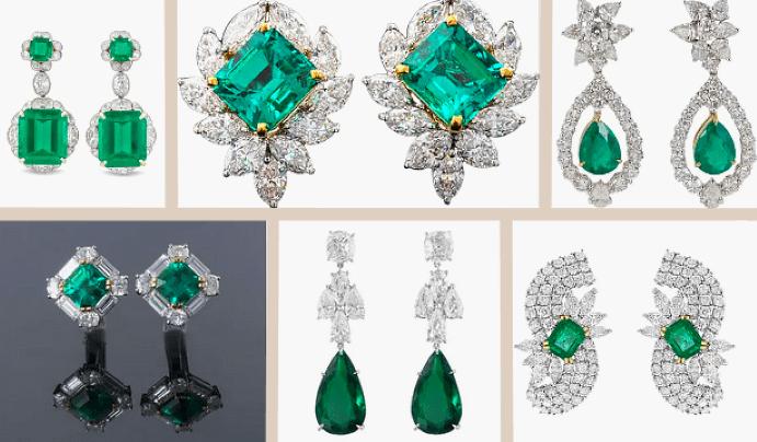 5 самых дорогих женских серег. Colombian Emerald Diamond