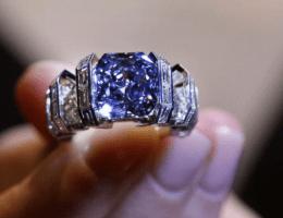 Голубой алмаз — идеальный камень для помолвочного кольца