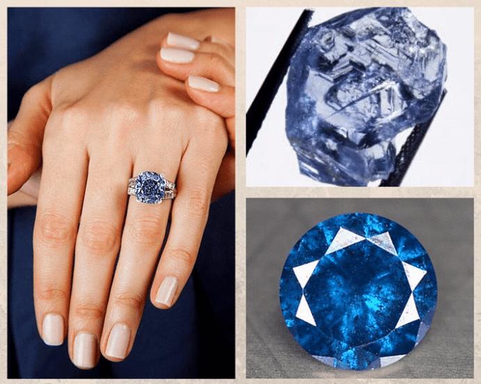 Голубой алмаз — идеальный камень для помолвочного кольца. Какими бывают голубые алмазы