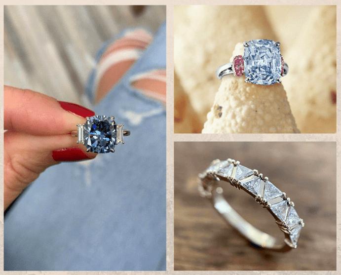 Голубой алмаз — идеальный камень для помолвочного кольца. Где используют известные голубые бриллианты