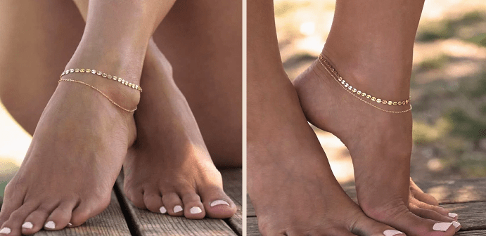 Цепочка на ноге: как и кто носит такие изделия? золотой анклет