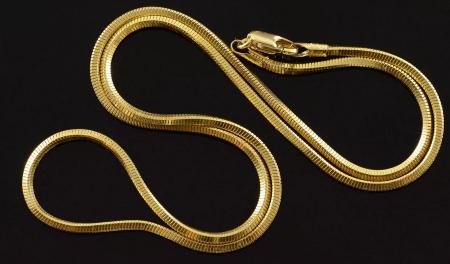 Золотые цепочки: виды плетения. Жгут снейк