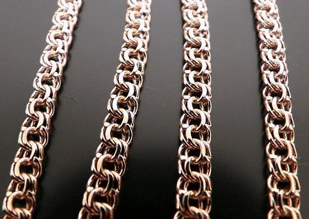 Золотые цепочки: виды плетения. Бисмарк