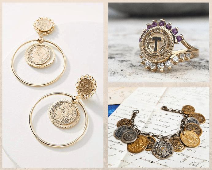 Украшения из монет: мода на все времена. Каким бывают украшения из монет