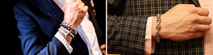 Как носят цепочки на руку: различия в мужском и женском стилях