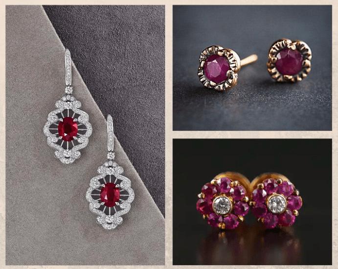 Серьги с рубином: на что обратить внимание при покупке. Натуральный камень или нет, дизайн.