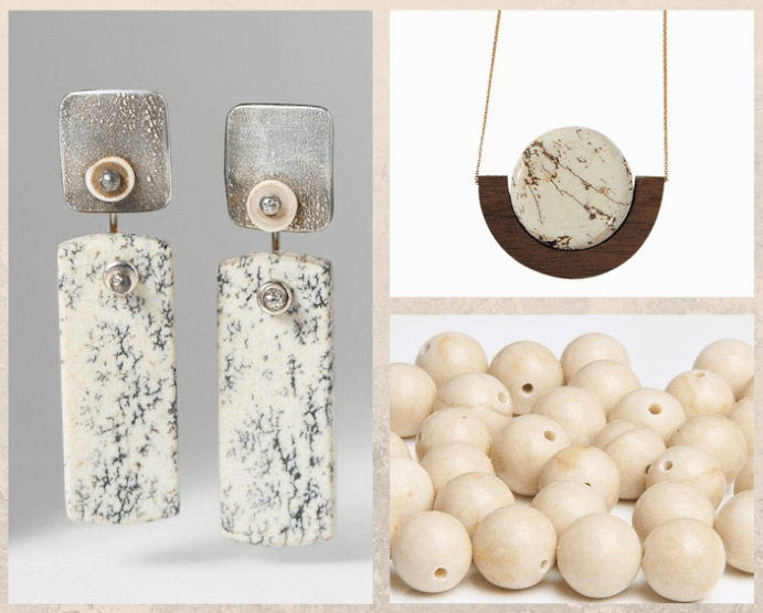 10 белых драгоценных камней. Яшма