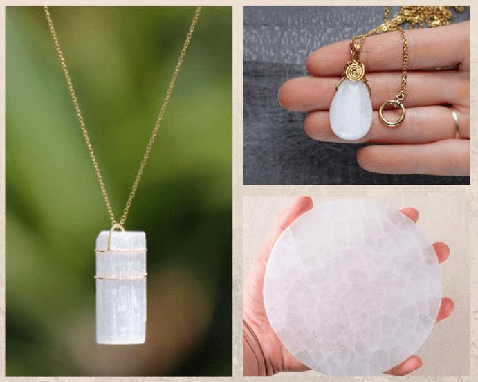 10 белых драгоценных камней. Селенит